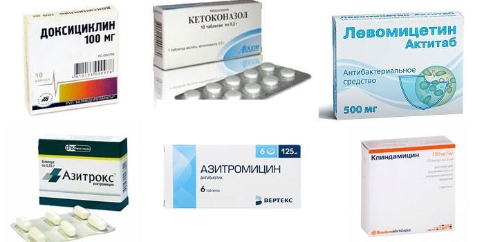 Несовместимые с этанолом антибиотики
