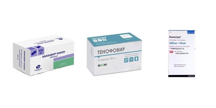Препараты для антиретровирусной терапии