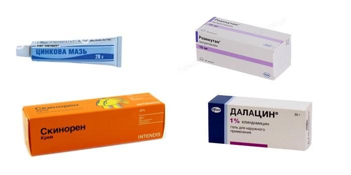 Препараты для лечения прыщей