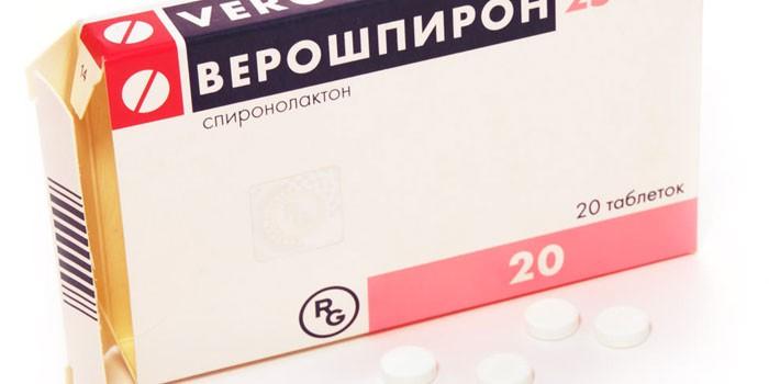 Таблетки Верошпирон в упаковке
