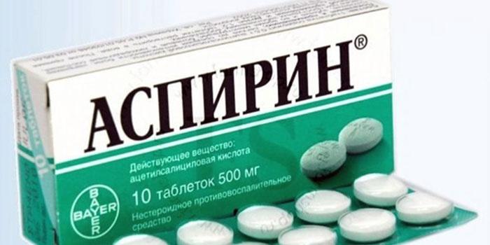 Аспирин в блистере