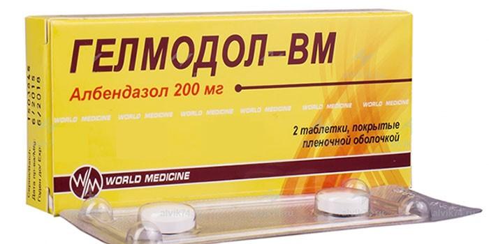 Таблетки Гелмадол-ВМ