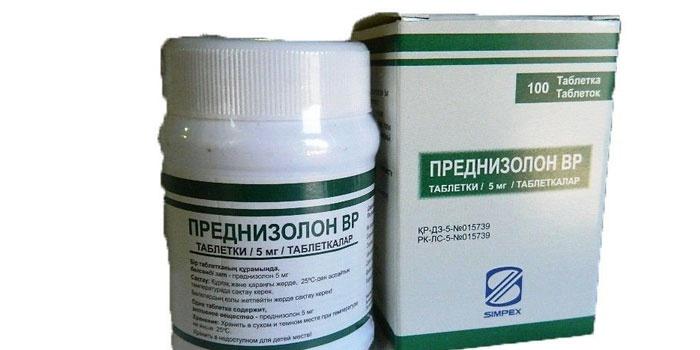 Гормональные таблетки Преднизолон