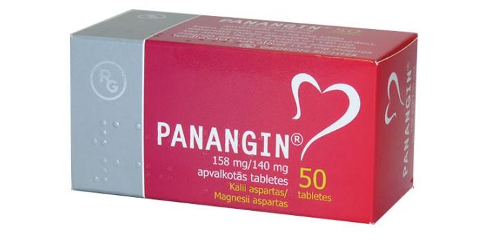 Таблетки Панангин в упаковке