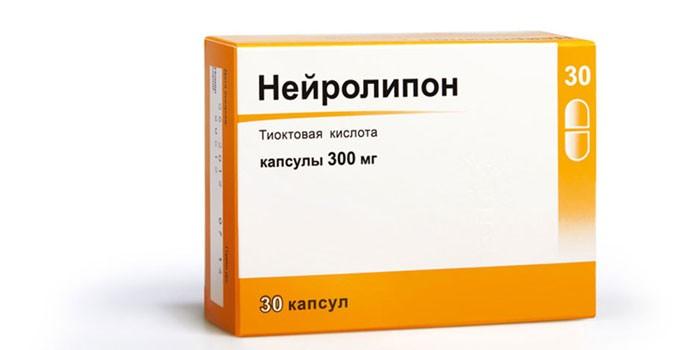 Капсулы Нейролипон в упаковке