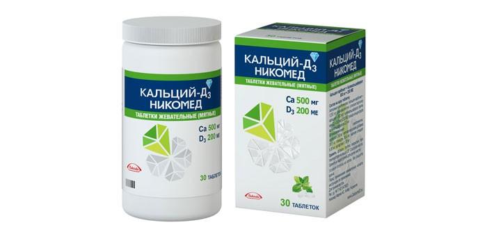 Жевательные таблетки Кальций-Д3 Никомед