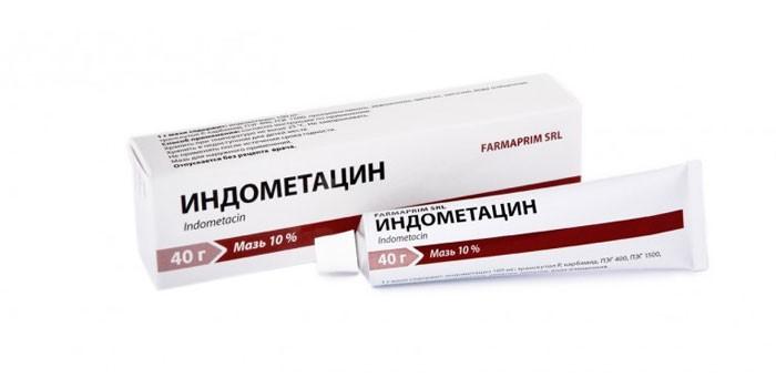 Мазь Индометацин в упаковке