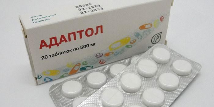 Таблетки Адаптол в упаковке