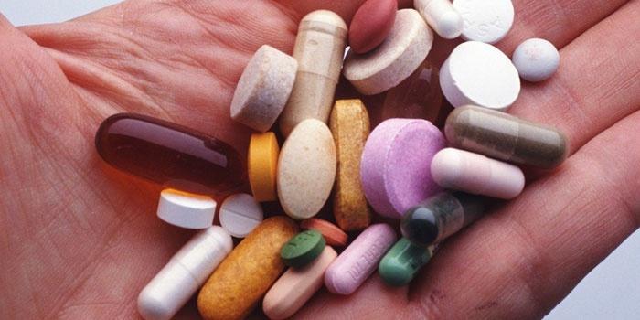 Таблетки в ладони