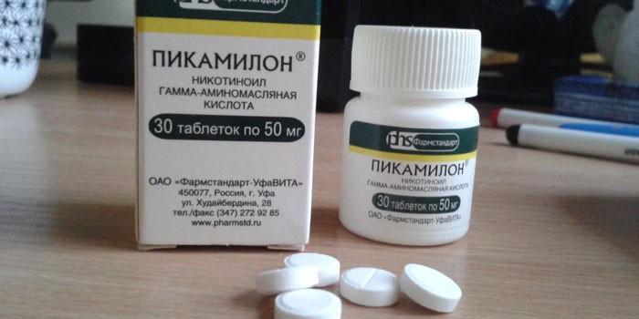 Таблетки Пикамилон в упаковке