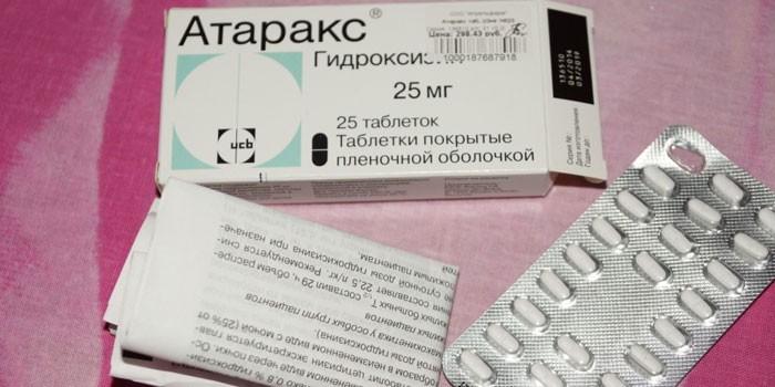 Таблетки Атаракс в упаковке