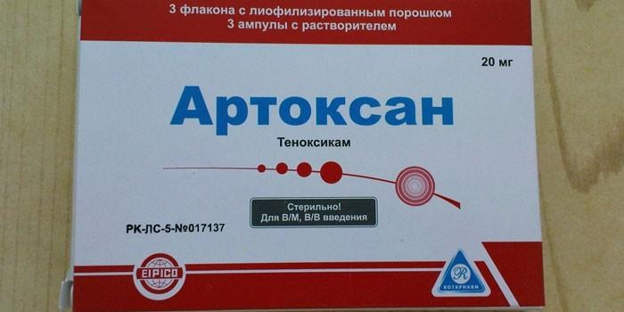 Препарат Артоксан в упаковке