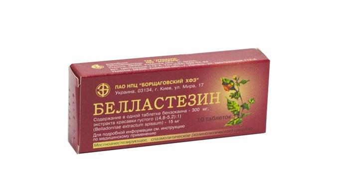 Таблетки Белластезин