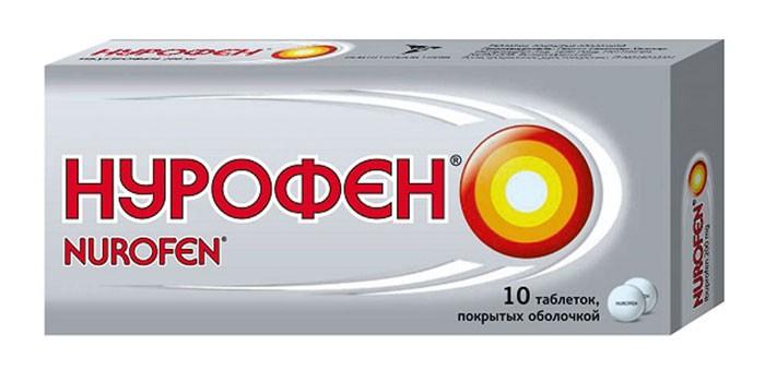 Таблетки Нурофен в упаковке