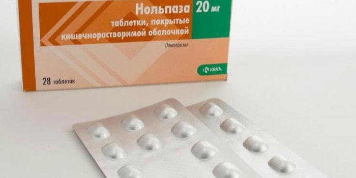 Таблетки Нольпаза для понижения уровня кислотности