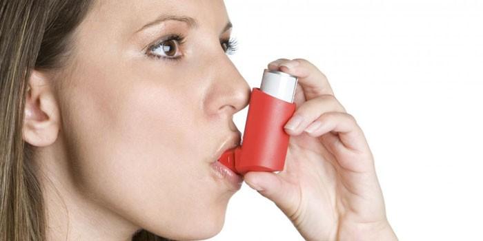 У девушки бронхиальная астма