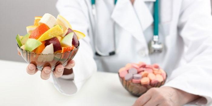 Овощной и фруктовый салат от врача