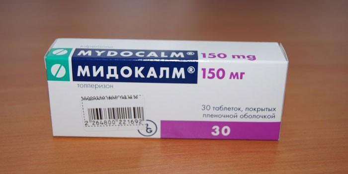 Таблетки Мидокалм в упаковке