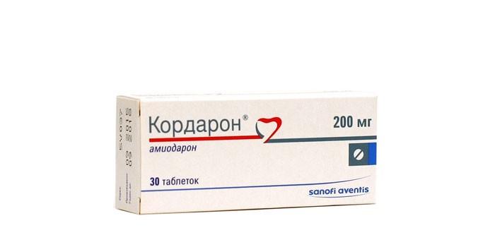 Таблетки Кордарон в упаковке