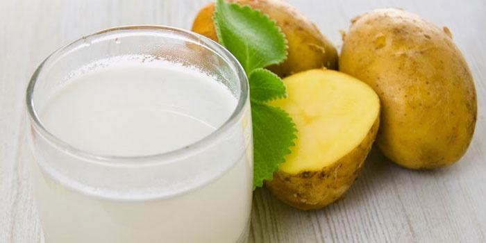Картофельный сок и клубни