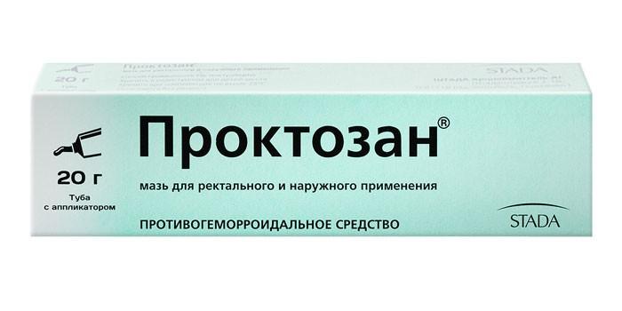 Мазь Проктозан в упаковке