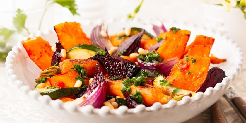 Салат печеных овощей