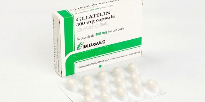 Капсулы Глиатилин в упаковке