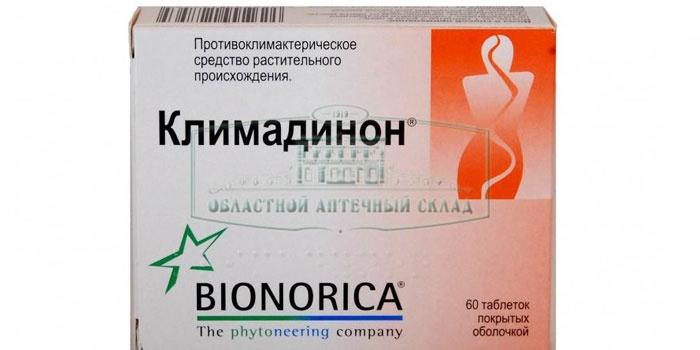 Упаковка таблеток Климадинон