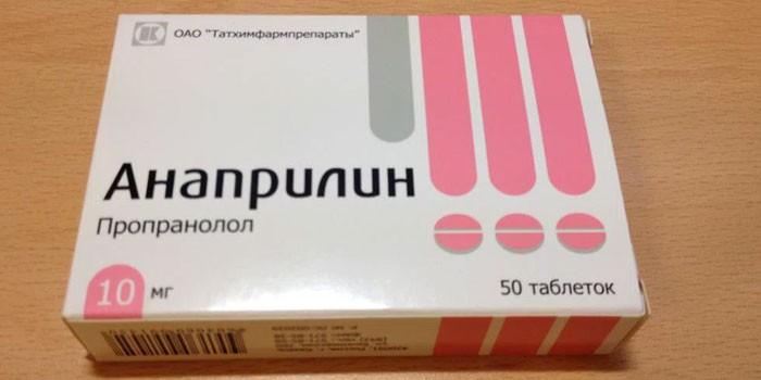 Таблетки Анаприлин в упаковке