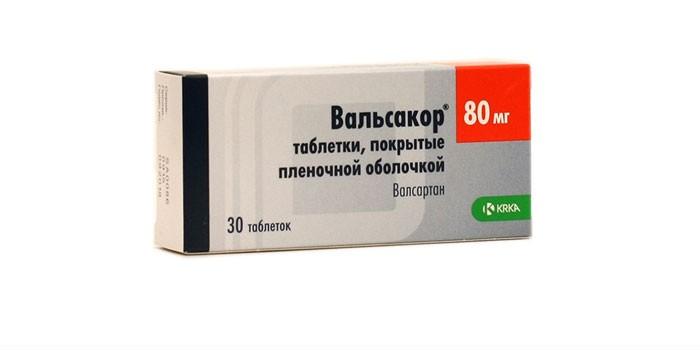 Таблетки Вальсакор