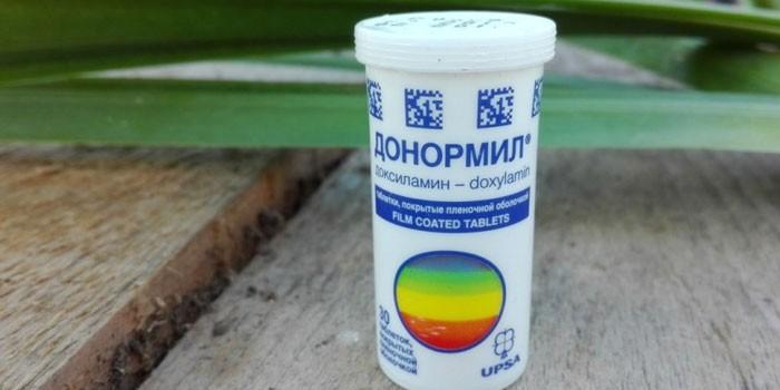 Таблетки Донормил в упаковке