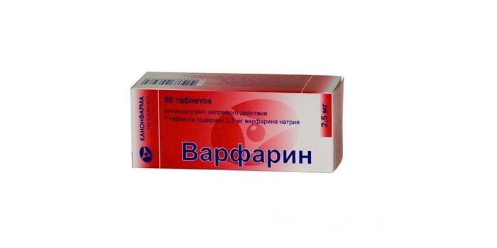 Таблетки Варфарин