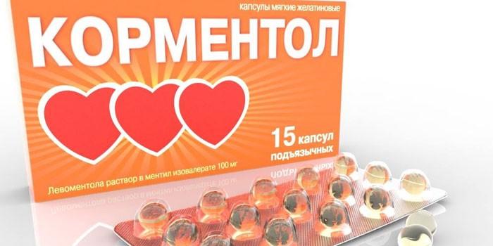 Капсулы Корментол в упаковке