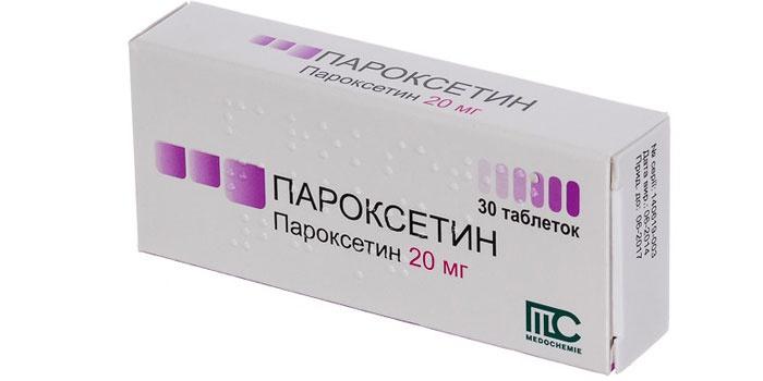 Упаковка таблеток Пароксетин