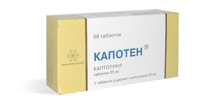 Таблетки Капотен в упаковке