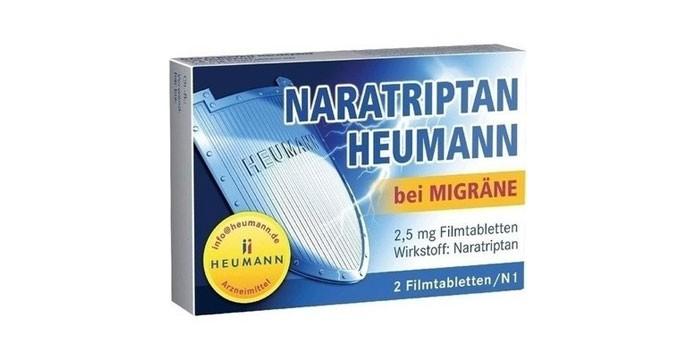 Таблетки Наратриптан в упаковке