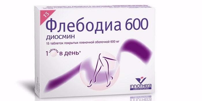 Таблетки Флебодиа 600 в упаковке