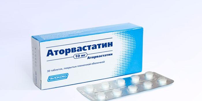 Таблетки Аторвастатин в упаковке