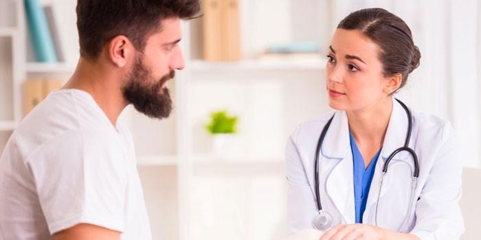 Парень на консультации у доктора