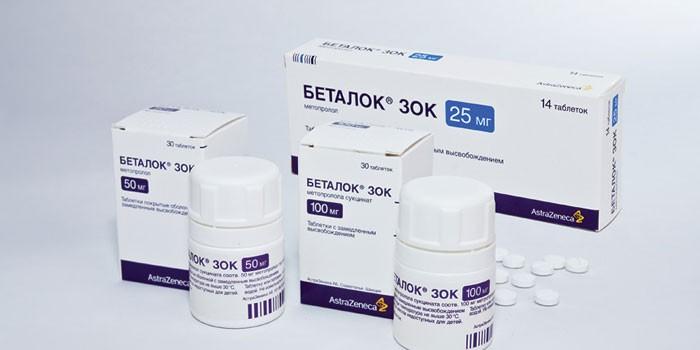 Препарат Беталок в разных формах выпуска