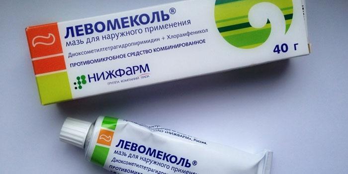 Антибактериальная мазь Левомеколь