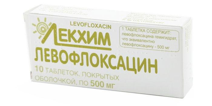 Упаковка таблеток Левофлоксацин