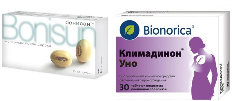 Препараты Бонисан и Климадинон