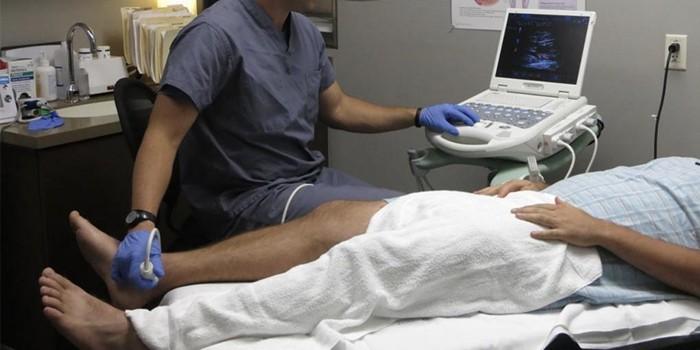 Проведение ультразвукового исследования нижних конечностей
