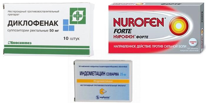 Диклофенак, Нурофен и Индометацин