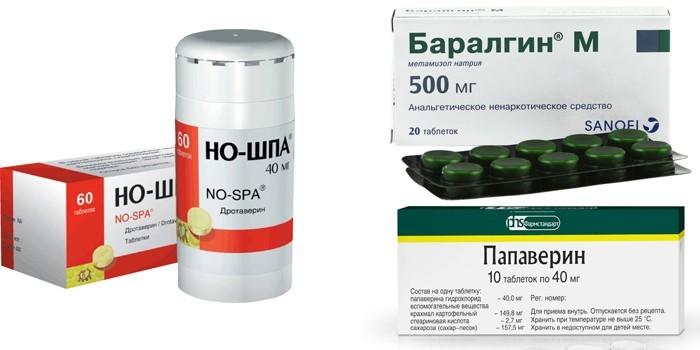 Но-шпа, Баралгин и Папаверин