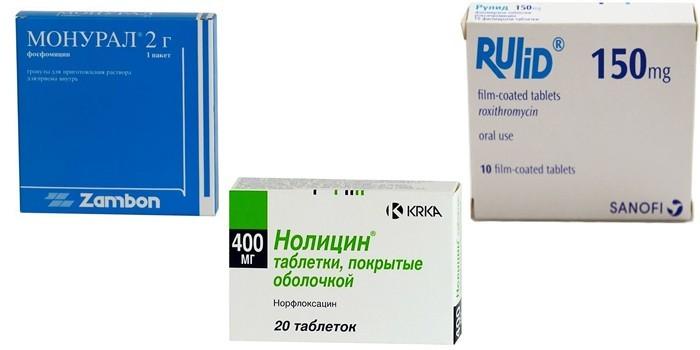 Монурал, Нолицин и Рулид