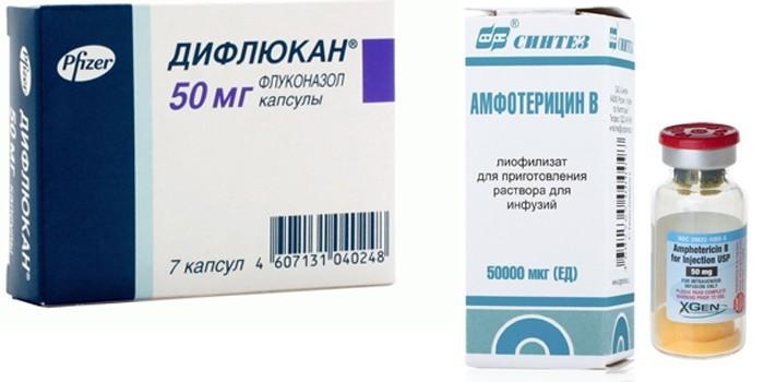 Дифлюкан и Амфотерицин