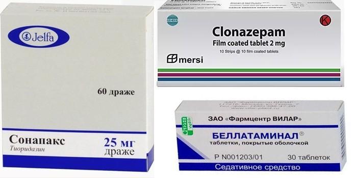 Сонопакс, Клоназепам и Беллатаминал
