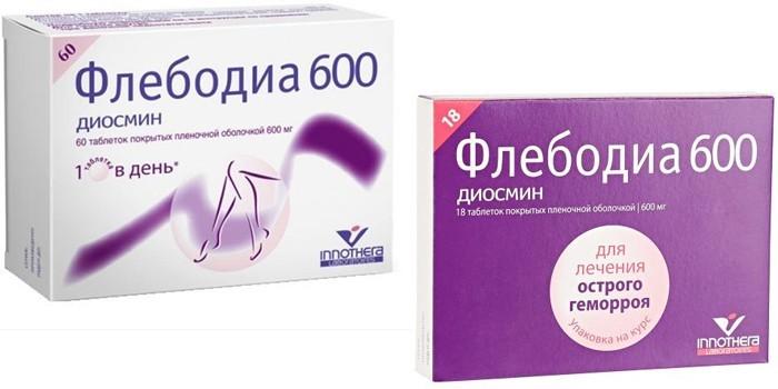 Таблетки Флебодия 600